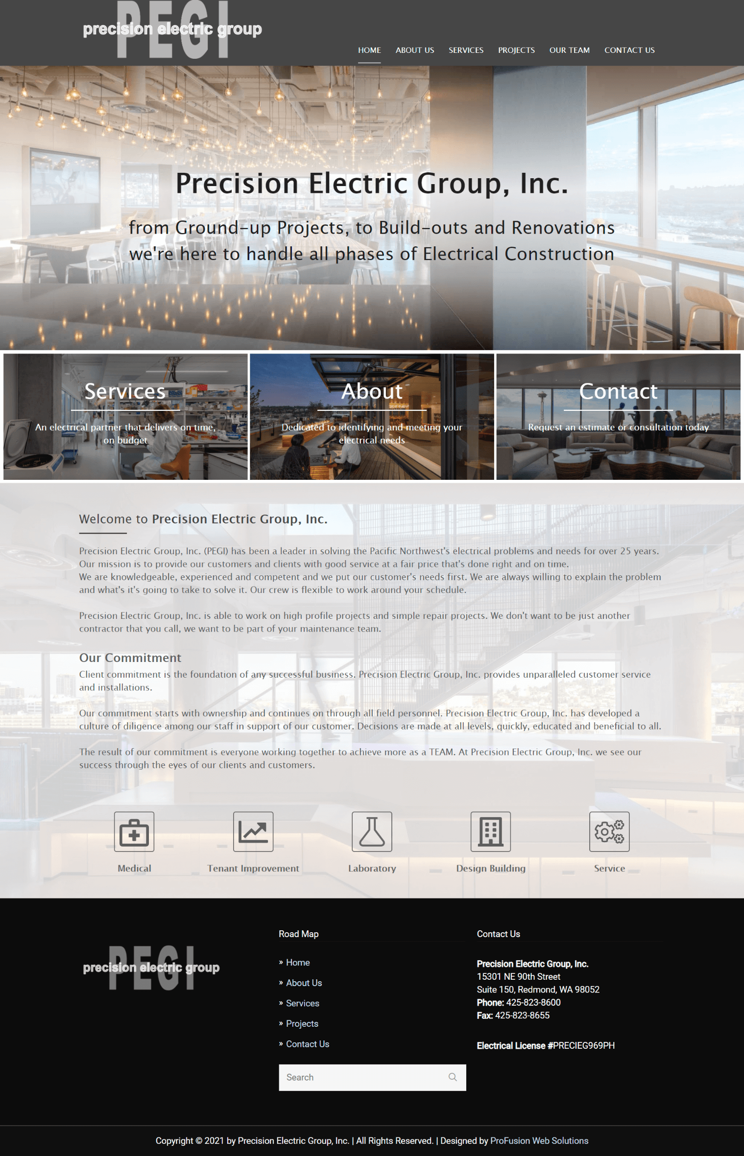 Precision Electric Group Homepage