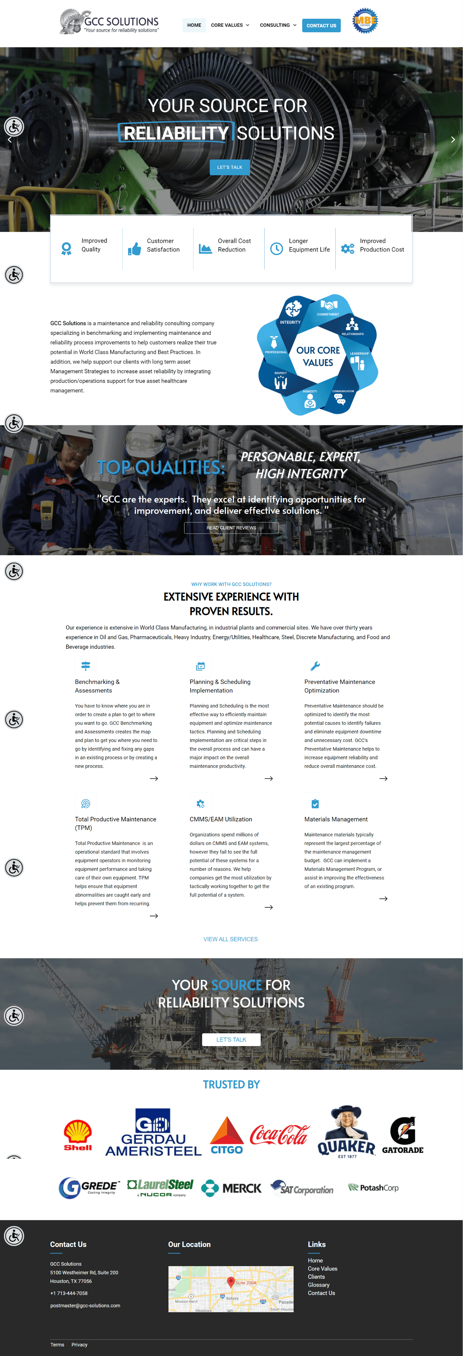 GCC Solutions Responsive Web Design Homepage