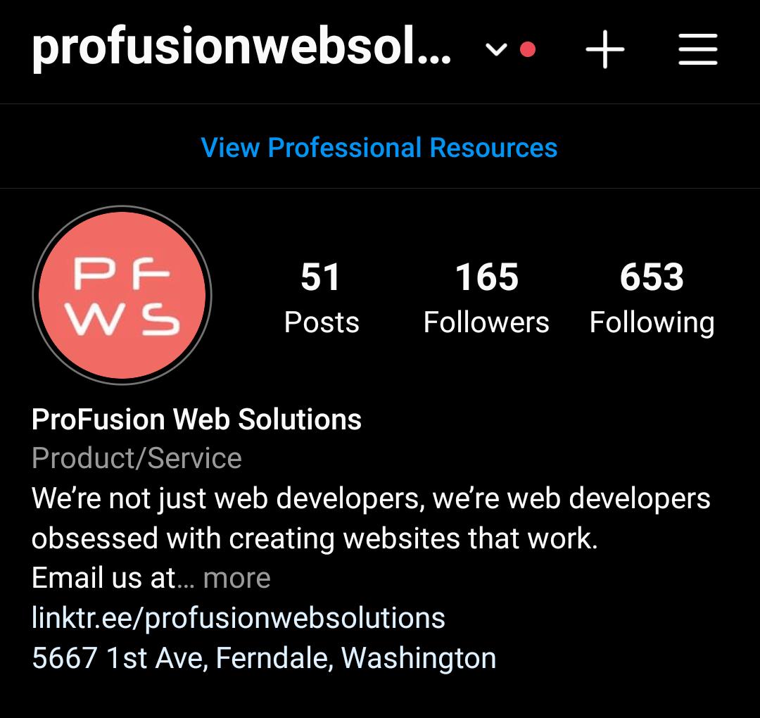 Correctly set up Instagram Business Profile