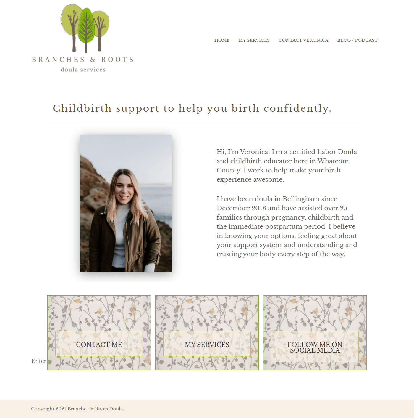 Branches and Roots homepage